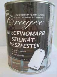 CRAYEE SILIKAT KALKFARBE- kreatív szilikát  mészfesték SHABBY CHIK festéshez fehér